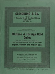 Catalogue of an important collection of Maltese and foreign gold coins [of Mr. L. Rosenberg, of South Africa]; and the valuable collection of Mr. Wharton Sinkler, of [Philadelphia,] U.S.A., ... [02/24-25/1960]