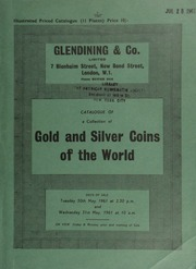Catalogue of an important collection of gold and silver coins of the world, [including] an interesting series of gold coins of Java previous to the British Occupation in 1811; [as well as] curious currencies; [etc.] ... [05/30-31/1961]