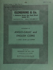 Catalogue of an important collection of Anglo-Gallic coins, [the property of Mr. R. Philippi], [including] an Edward III florin of Aquitaine, obv. figure of St. John the Baptist,  ... [07/08/1970]