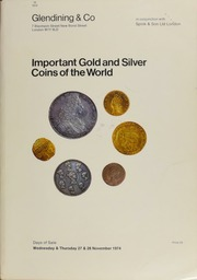 Catalogue of important gold and silver coins of the world, including 13 cinquentinas (50 reales) of Spain; a virtually complete series of crowns of Joseph Napoleon of Spain; 38 Anglo-Gallic gold coins;  ... [11/27-28/1974]