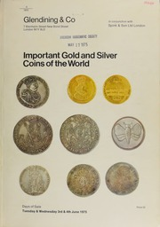 Catalogue of important gold and silver coins of the world, including coins of the Low Countries and the kingdoms of Holland, the Netherlands, and Belgium, ... the Dutch overseas territories, ... Poland, ... 17th century France,  ... [06/03-04/1975]