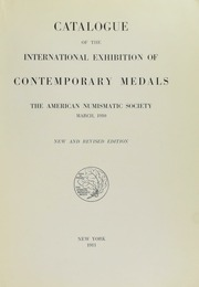Catalogue of the International Exhibition of Contemporary Medals
