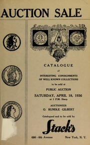 Catalogue of interesting consignments of well known collectors to be sold at public auction. [04/18/1936]