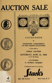 Catalogue of interesting consignments of well known collectors to be sold at public auction. [06/13/1936]