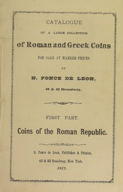 Catalogue of a Large Collection of Roman and Greek Coins [Fixed Price List]