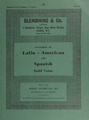 Catalogue of Latin American and Spanish gold coins; [also] a few platinum ... [10/23/1961]