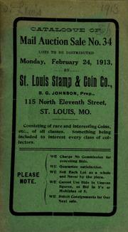 Catalogue of mail auction sale no. 34. [02/24/1913]