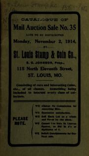 Catalogue of mail auction sale no. 35. [11/02/1914]
