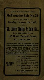 Catalogue of mail auction sale no. 36. [01/25/1915]