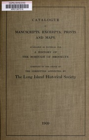 Catalogue of manuscripts, e...