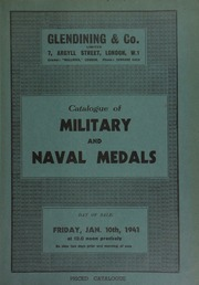 Catalogue of military and naval medals, [including] a Battle of La Hogue 1692, naval medal by Jan Boskam; telegraphs from Queen Victoria and Admiral Bruce, congratulating Major E. Wray, Officer-in-Command, Pekin Seige, 1900;  ... [01/10/1941]