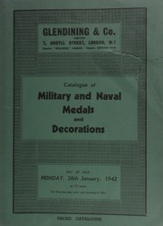 Catalogue of military and naval medals and decorations, formed by the late C.J. Varty, Esq., of Newcastle on Tyne, [including] a very interesting family group of medals, in glazed frame, with commission signed by Queen Victoria, [etc.] ... [01/26/1942]