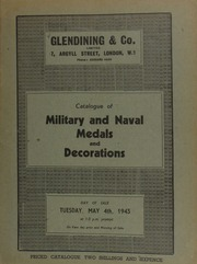 Catalogue of military and naval medals and decorations, including the property of W. Waite Sanderson, C.B.E., containing a North American Indian Chief's medal, with George III, as young king, [etc.] ... [05/04/1943]