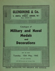 Catalogue of military and naval medals and decorations, including the collection of the late Marcus Hyman; [and containing] a baronet's oval silver gilt enamelled badge,  ... 5/15/1945]