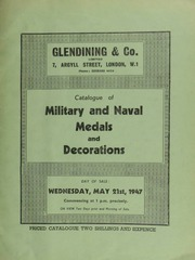 Catalogue of military and naval medals and decorations, including an autographed letter from Florence Nightingale, dated June 18, 1856, from the General Hospital, Balaclava, respecting the accomodation, on the passage home from the Crimea, of some of her nurses ... [05/21/1947]