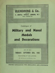 Catalogue of military and naval medals and decorations, [including] a Royalist badge of Charles I; various medals for Waterloo; Military General Service;  ... [09/30/1948]