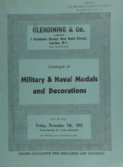 Catalogue of military & naval medals and decorations, [containing] an Army of India medal, three bars, Asseerghur, Arguam, Gawilghur (Captain C. Gordon, 94th Foot.);  ... [11/07/1952]