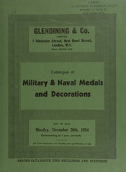 Catalogue of military & naval medals and decorations, including the decorations [awarded to] Major the Right Hon. Sir P[hilip] A[lbert] G[ustave] D[avid] Sassoon, BT., G.B.E., C.M.G., M.P. ... [12/20/1954]