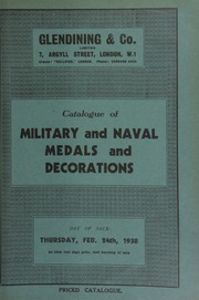 Catalogue of military and naval medals and decorations, including a fine gold enamelled badge of the Order of St. Anne of Russia, set with diamonds; a very interesting silver archery badge, with bust of George III, 1781;  ... [02/24/1938]