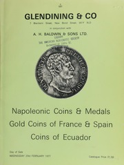 Catalogue of Napoleonic coins & French commemorative medals; [followed by] Part III of a collection of gold coins of France and Spain,  ... [02/23/1977]