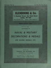 Catalogue of naval and military decorations & medals, and a fine selection of life saving medals, etc., including the Albert Medal awarded to Ambrose Clarke, for gallantry in saving life in a sinking shaft, Rotherham Main, Yorkshire, 7th July 1898 ... [09/28/1972]