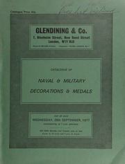 Catalogue of naval & military decorations & medals, [including] a collection of medals to the 2nd Dragoons, (Royal Scots Grays); [and] other properties ... [09/28/1977]