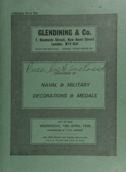 Catalogue of naval & military decorations and medals, [including] the unique small naval medal awarded to Captain John Stewart, H.M.S. Seahorse,  ... 04/19/1978]