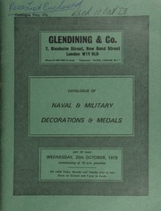 Catalogue of naval & military decorations & medals, [including] an outstanding Victoria Cross group for Gallipoli, one of the famed \Six Before Breakfast\ awarded to Sergt. Alfred Richards, 1st Bn., Lancashire Fusiliers; [etc.] ... [10/25/1978]