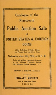 Catalogue of the nineteenth public auction sale of United States & foreign coins ... [01/08/1916]
