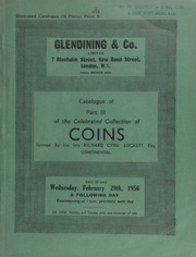 Catalogue of Part III of the celebrated collection of coins, formed by the late Richard Cyril Lockett, Esq. : Continental : Merovingian tremisses and saigas, medieval issues of Western and Eastern Europe and Scandinavia,  ... [02/29/1956]-[03/01/1956]