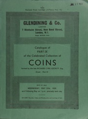 Catalogue of Part IX of the celebrated collection of coins, formed by the late Richard Cyril Lockett, Esq. : Greek, Part III : Locris, Phocis, Boeotia, Athens, Aegina, Corinth, Peloponnesus, Crete, Aegaean Islands ... [05/27/1959]