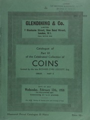 Catalogue of Part VI of the celebrated collection of coins, formed by the late Richard Cyril Lockett, Esq. : Greek, Part II : Black Sea District, Thrace, Macedon, Thessaly, Illyricum, Epirus, Corcyra, Acarnania, and Aetolia ... [02/12/1958]