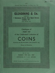 Catalogue of Part VIII of the celebrated collection of coins, formed by the late Richard Cyril Lockett, Esq. : Roman & Byzantine ... [05/26/1959]
