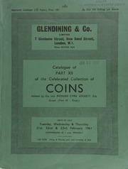 Catalogue of Part XII of the celebrated collection of coins, formed by the late Richard Cyril Lockett, Esq. : Greek, (Part IV - Final) : Asia Minor, Asia, and Africa ... [02/21-23/1961]