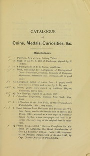Catalogue of a Private Collection of Colonial & Continental Paper Money ...