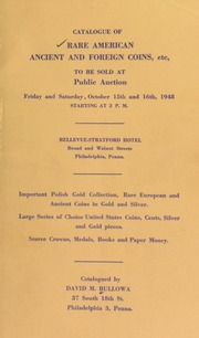 Catalogue of rare American ancient and foreign coins ... [10/15-16/1948]