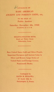 Catalogue of rare American ancient and foreign coins ... [12/04/1948]