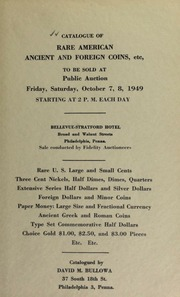 Catalogue of rare American, ancient and foreign coins ... [10/07-08/1949]