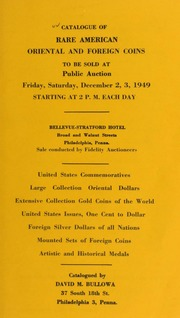 Catalogue of rare American oriental and foreign coins ... [12/02-03/1949]