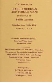 Catalogue of rare American and foreign coins ... [06/12/1948]