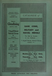 Catalogue of rare coins, military and naval medals, [including] the property of Captain C.R.B. Knight, [and containing] Anglo-Saxon pennies, [as well as] a small collection of German double talers and talers of the 19th century ... [11/23/1932]