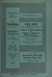 Catalogue of rare coins, including choice gold coins, the property of James Akers, Esq.; coins from the Museum Kelso, Scotland; Roman coins, the property of J.E. Meade, Esq.; other properties, of Mrs. Marquis; and F.D. Murphy, Esq.,  ... [09/13/1933]