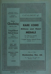 Catalogue of rare coins, [including] gold coins, Greek and Roman coins, English and Scottish silver coins, [and] military and naval medals, [containing] the decorations of Gen. Sir Samuel Benjamin Auchmuty, G.C.B.;  ... [12/06/1933]