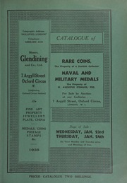 Catalogue of rare coins, the property of a Scottish collector; [and] naval and military medals, the property of W. Augustus Steward, Esq., [etc.] ... [01/23/1935]
