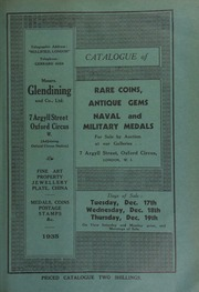 Catalogue of rare coins, [and] antique gems, [including] the collection of the late General George G. Pearse; [and] naval and military medals, [including] the collection of the late George Tate, Esq., [etc.] ... [12/17/1935]