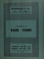 Catalogue of rare coins, including Greek and Roman gold and silver, Roman bronze, English gold and British silver coins, [the latter containing] \the Wheeler collection of forgeries\; [as well as] foreign gold and silver, [etc.] ... [12/19/1938-12/20/1938]