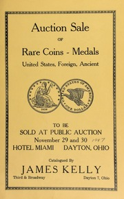 Catalogue of rare coins, medals, etcetera. [11/29-30/1947]