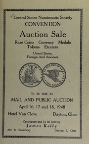 Catalogue of rare coins, medals, etcetera. [04/16-18/1948]