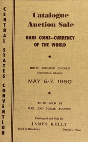Catalogue of rare coins, medals, etcetra ... [05/06-07/1950]
