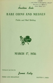 Catalogue of rare coins and medals : to be sold at public auction. [03/17/1956]